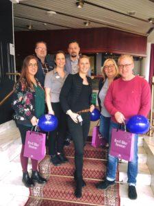 bild på de som var med vid företagsbesöket på Hotell Nissastigen