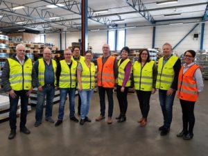 bild på de som var med vid företagsbesöket hos GA plast