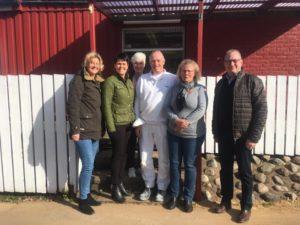 bild på de som var med vid företagsbesöket hos Hörsjöns camping