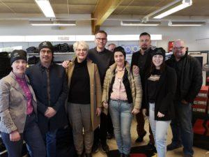 bild på de som var med vid företagsbesöket hos Lopus