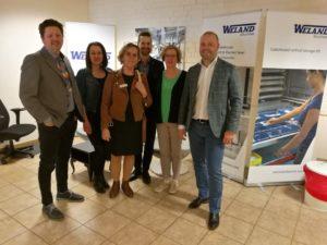 bild på de som var med vid företagsbesöket hos Weland Solutions