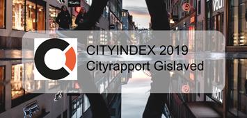 En gata i en storstad med texten Cityindex branchrapport 2019.